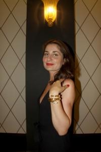 Arabian snake bracelet in yellow gold and brilliant-cut diamonds