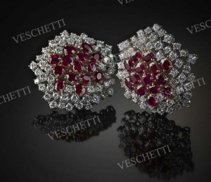 Red emotions earrings set with Burmese rubies and brilliant-cut diamonds