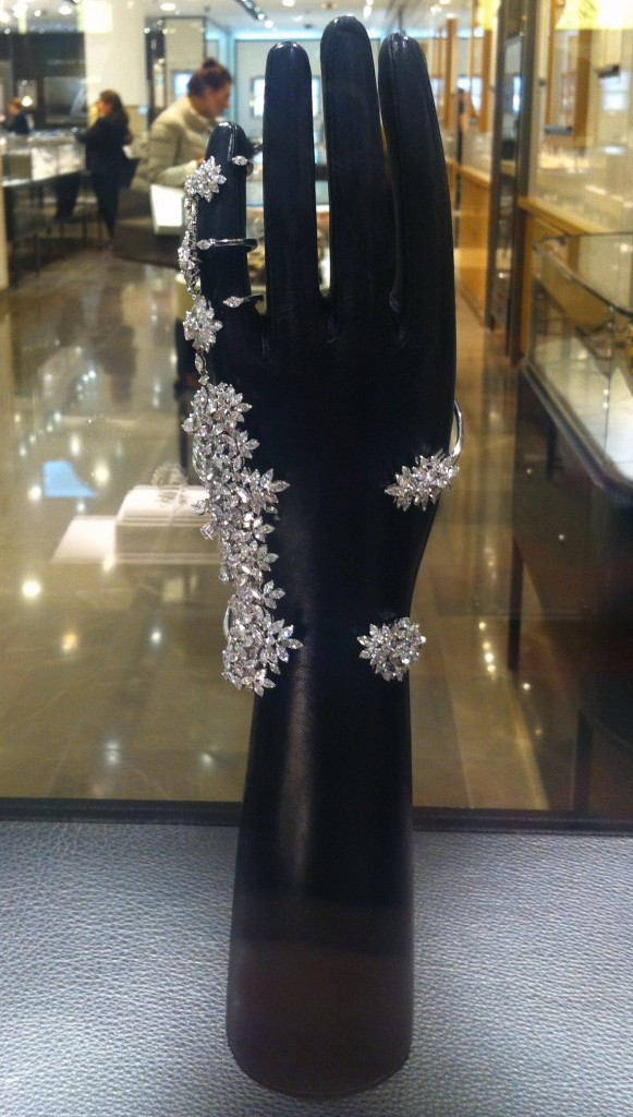 Ararad bracelet set in white gold with marquise cut diamonds, YEPREM Jewellery. People's Choice Award-Las Vegas Couture Show 2015