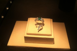 Gorgeous ring set in white gold with emerald and marquise cut diamonds, exclusively for TSUM , YEPREM Jewellery