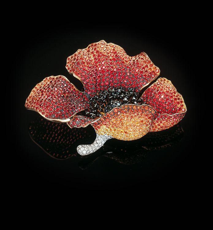 Poppy brooch, Palmiero Jewellery Design – Realm of Jewellery by