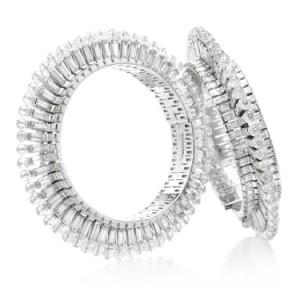 Pair of diamond bangles, Viren Bhagat