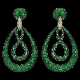 Titanium glam earrings, Jacob&Co