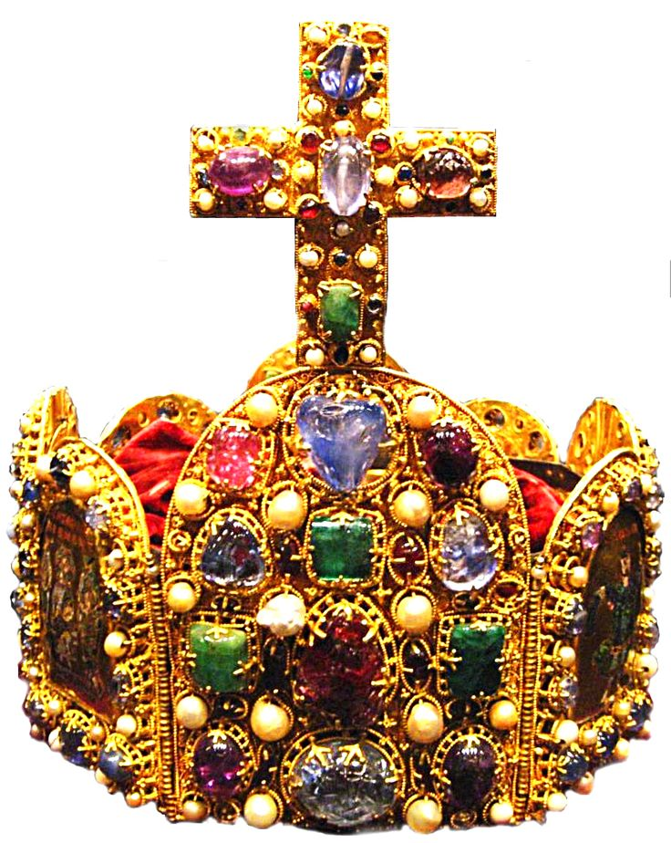 Imperial crown of Charlemagne made of 144 precious stones and pearls