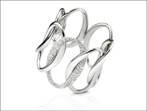 Bracelet Elisse in white gold with diamonds, Verdi Gioielli