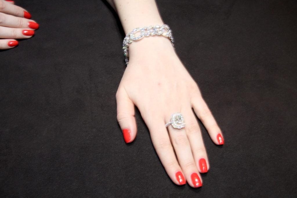 Diamond pave' bracelet, Verdi Gioielli
