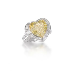 Imperial Fancy yellow heart shape diamond ring, Picchiotti