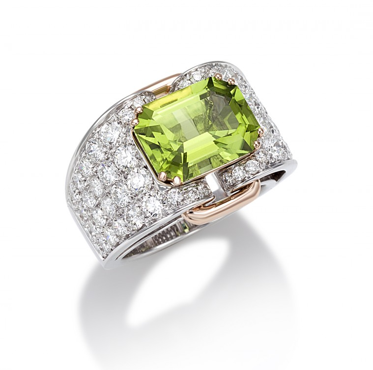 Essentially Colour Peridote ring, Picchiotti