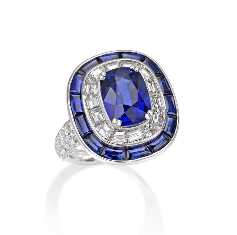Special Gems Cushion Sapphire ring, Picchiott