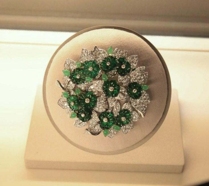 Bouquet d'emeraudes clip, Van Cleef&Arpels