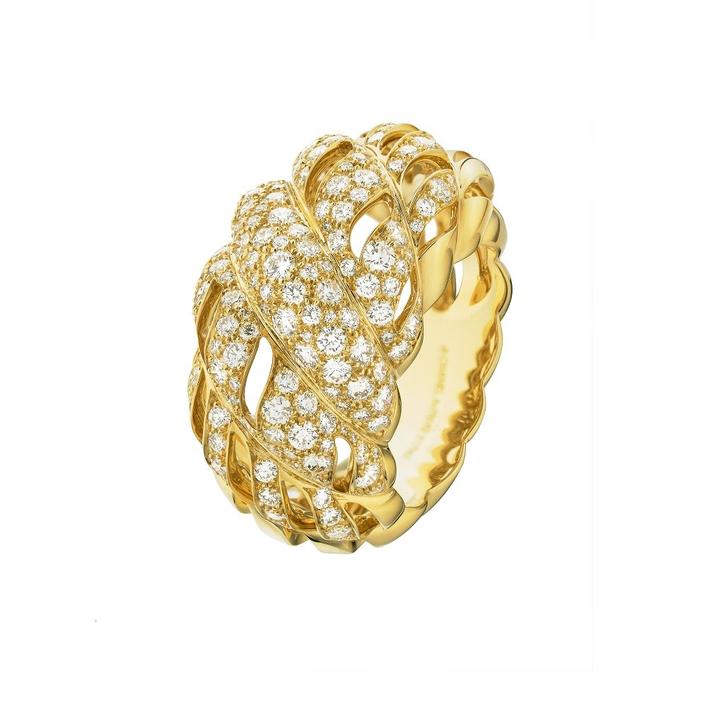 Sunny Rope ring made of yellow gold with diamonds, Chanel Joaillerie