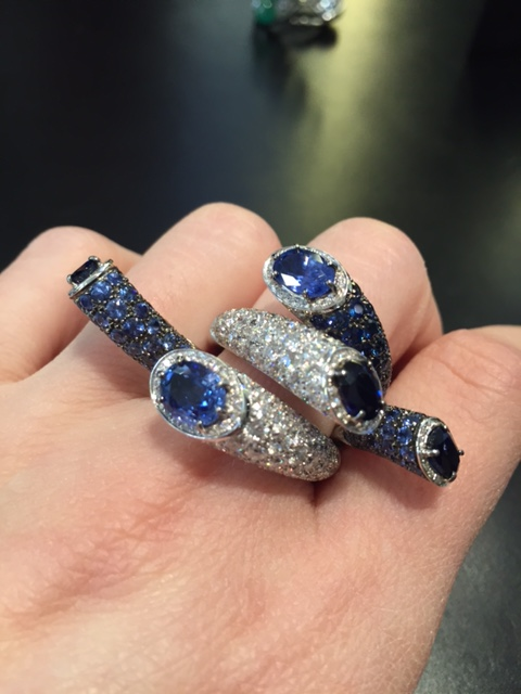 Anemone sapphire ring, Scavia